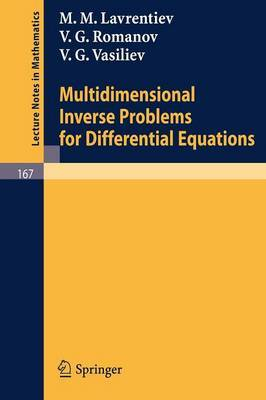 Multidimensional Inverse Problems for Differential Equations