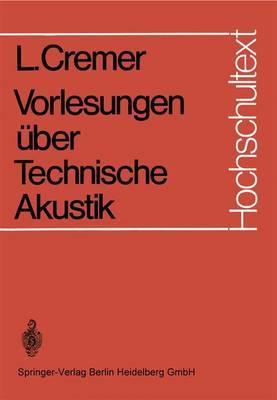 Vorlesungen Uber Technische Akustik