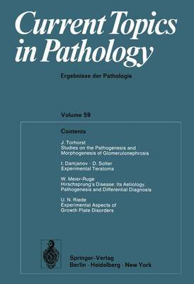 Current Topics in Pathology: Ergebnisse Der Pathologie