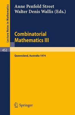 Combinatorial Mathematics III: No. III