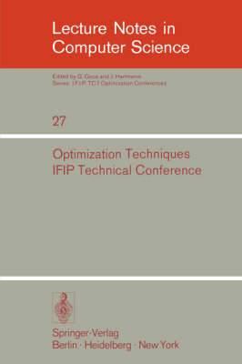 Optimization Techniques: IFIP Technical Conference, Novosibirsk, July 1-7, 1974