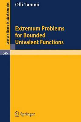 Extremum Problems for Bounded Univalent Functions