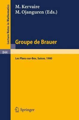 Groupe De Brauer: Seminaire, Les Plans-sur-bex, Suisse, 1980