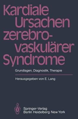 Kardiale Ursachen Zerebrovaskularer Syndrome