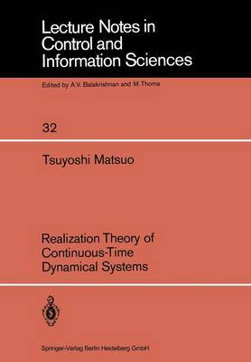 Realization Theory of Continuous-Time Dynamical Systems
