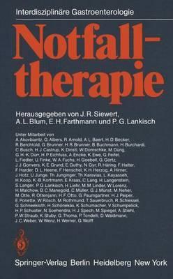 Notfalltherapie: Konservative Und Operative Therapie Gastrointestinaler Notfalle