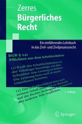 Burgerliches Recht: Ein Einfuhrendes Lehrbuch in Das Zivil- Und Zivilprozessrecht