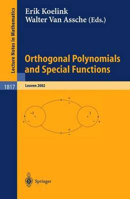 Orthogonal Polynomials and Special Functions: Leuven 2002