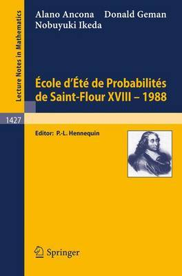 Ecole D'Ete De Probabilities De Saint-Flour Xvi