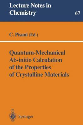 Quantum-mechanical Ab-initio Calculation of the Properties of Crystalline Materials