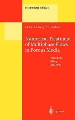 Numerical Treatment of Multiphase Flows in Porous Media: Proceedings of the International Workshop Held at Beijing, China, 2-6 August, 1999