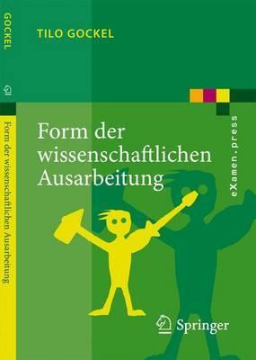 Form Der Wissenschaftlichen Ausarbeitung: Studienarbeit, Diplomarbeit, Dissertation, Konferenzbeitrag