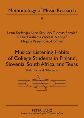 Musical Listening Habits of College Students in Finland, Slovenia, South Africa, and Texas: Similarities and Differences
