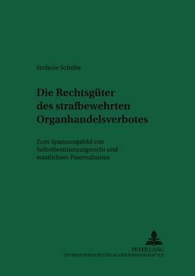 Die Rechtsgueter Des Strafbewehrten Organhandelsverbotes: Zum Spannungsfeld Von Selbstbestimmungsrecht Und Staatlichem Paternalismus