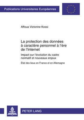 La Protection Des Donnees a Caractere Personnel A L Ere de L Internet: Impact Sur L Evolution Du Cadre Normatif Et Nouveaux Enjeux- Etat Des Lieux En France Et En Allemagne