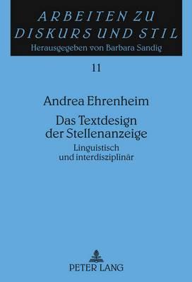 Das Textdesign Der Stellenanzeige: Linguistisch Und Interdisziplinaer