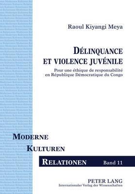 Delinquance Et Violence Juvenile: Pour Une Ethique de Responsabilite En Republique Democratique Du Congo