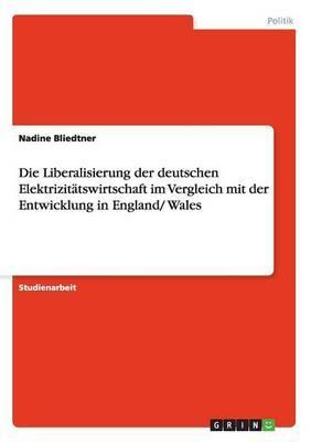 Die Liberalisierung Der Deutschen Elektrizitatswirtschaft Im Vergleich Mit Der Entwicklung in England/ Wales