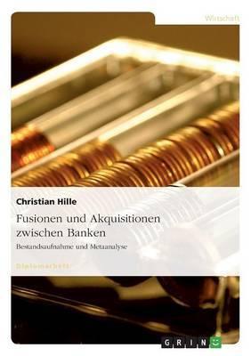 Fusionen Und Akquisitionen Zwischen Banken