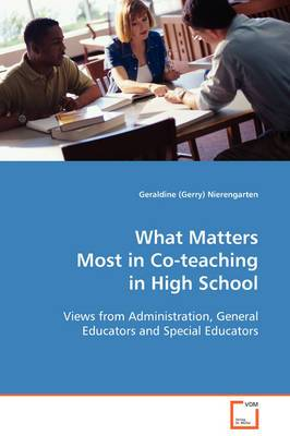 What Matters Most in Co-Teaching in High School