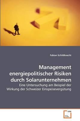 Management Energiepolitischer Risiken Durch Solarunternehmen