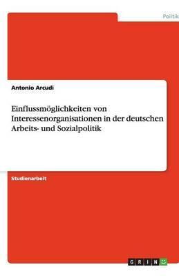 Einflussmoglichkeiten Von Interessenorganisationen in Der Deutschen Arbeits- Und Sozialpolitik