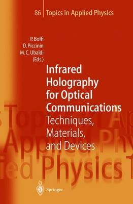 Infrared Holography for Optical Communications: Techniques, Materials and Devices