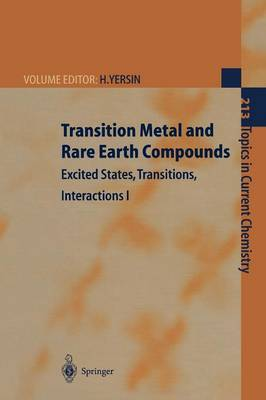 Transition Metal and Rare Earth Compounds: Excited States, Transitions, Interactions I
