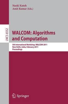 WALCOM: Algorithms and Computation: Proceedings