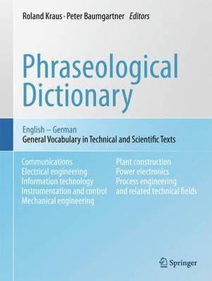 Phraseological Dictionary English - German
