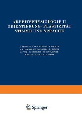Arbeitsphysiologie II Orientierung . Plastizitat Stimme Und Sprache