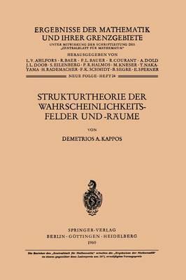 Strukturtheorie Der Wahrscheinlichkeitsfelder Und -R ume