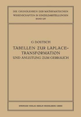Tabellen Zur Laplace-Transformation Und Anleitung Zum Gebrauch