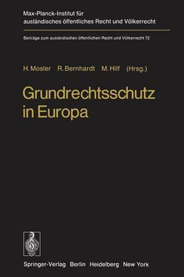 Grundrechtsschutz in Europa: Europaische Menschenrechts-Konvention Und Europaische Gemeinschaften
