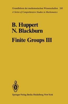 Finite Groups III