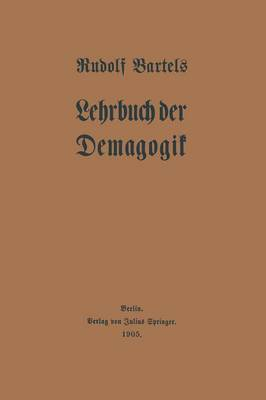 Lehrbuch Der Demagogik