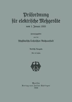 Prufordnung Fur Elektrische Messgerate: Vom 1. Januar 1933