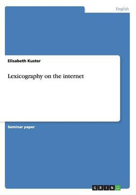 Lexicography on the Internet