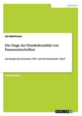 Die Frage Der Transkulturalitat Von Frauenzeitschriften