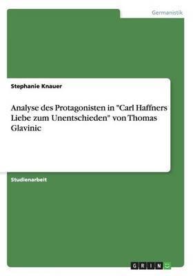Analyse Des Protagonisten in Carl Haffners Liebe Zum Unentschieden Von Thomas Glavinic