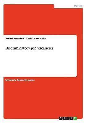 Discriminatory Job Vacancies