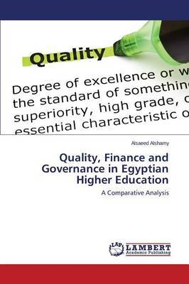 Quality, Finance and Governance in Egyptian Higher Education