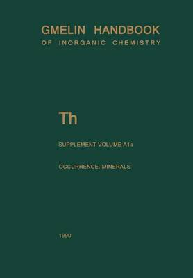 Th Thorium: Natural Occurrence. Minerals (Excluding Silicates)