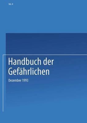 Handbuch Der Gefahrlichen: Dezember 1993