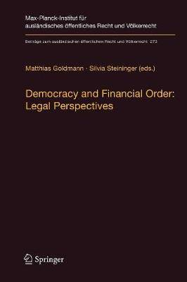 Democracy and Financial Order: Legal Perspectives