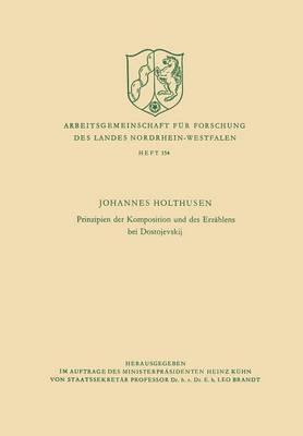 Prinzipien Der Komposition Und Des Erzahlens Bei Dostojevskij