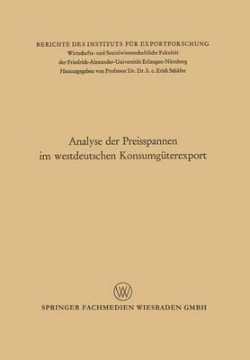 Analyse Der Preisspannen Im Westdeutschen Konsumguterexport