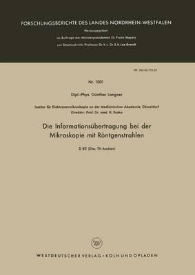 Die Informationsubertragung Bei Der Mikroskopie Mit Rontgenstrahlen