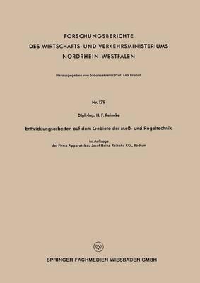 Entwicklungsarbeiten Auf Dem Gebiete Der Mess - Und Regeltechnik