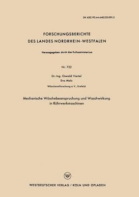 Mechanische Waschebeanspruchung Und Waschwirkung in Ruhrwerkmaschinen